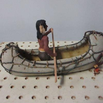 Lot 2 - Native Americans Canoeing