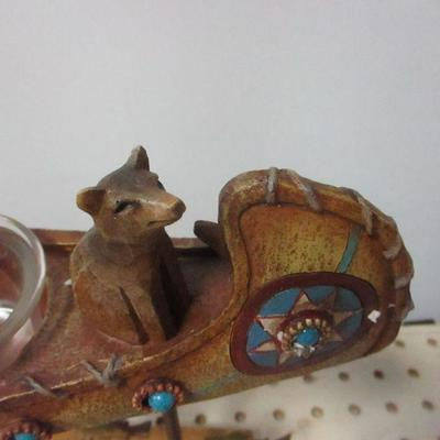 Lot 3 - Native American Canoeing With Bear