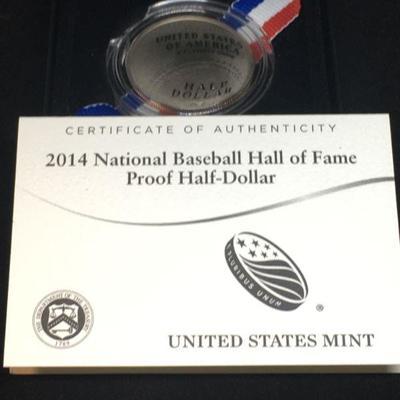 2014 National Baseball Hall of Fame Proof Half-Dollar