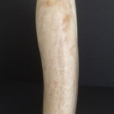 Native American Alabaster Sculpture by Harvey Bearshield Russell -