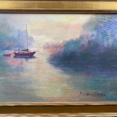 "101: Original Oil "" Island Creek Anchorage"" by Jean Ranney Smith"