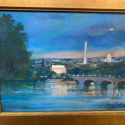 108: Original Oil on Canvas of Washington, D.C. by Jean Ranney Smith