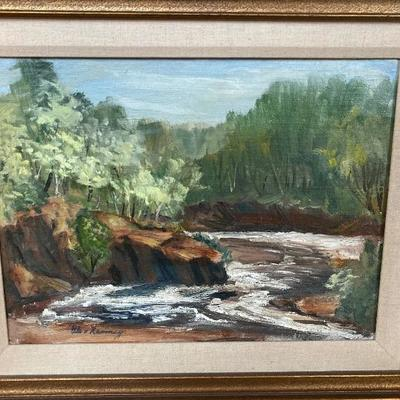 109: Original Oil on Board Painting of Landscape by Glen Ranney