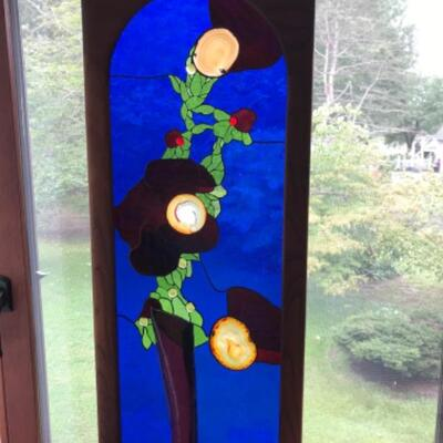 123: Original Stained Glass Signed Wall Hanging / Art