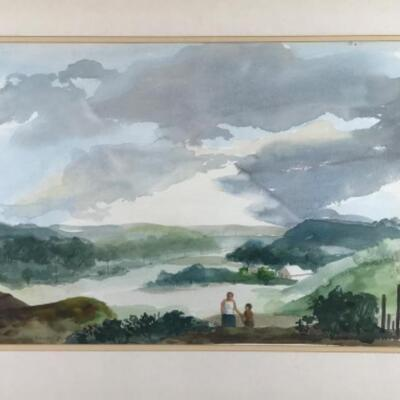 "128: Original Watercolor ""Going Home"" by Glen Ranney"