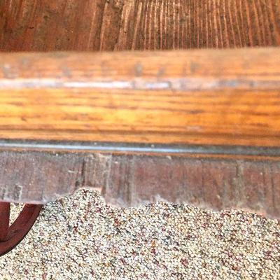 L73: Rare Antique Philadelphia Evening Bulletin Newspaper Wooden Delivery Pull Wagon
