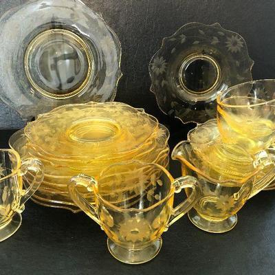 K11: Jubilee Yellow Depression Glass