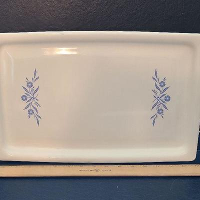 K49: HTF Blue Cornflower Corning Ware Bake Tray, Trivet Stand and More