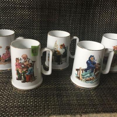 K1ab: Norman Rockwell 5 mugs