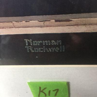 K17ab: Norman Rockwell print, 16x17, 24x25frame