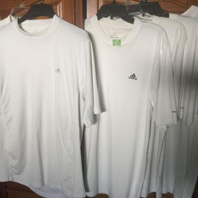 M 1 : Adidas SS white shirts (6)