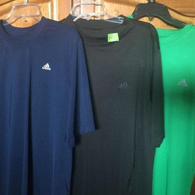 M 2: Adidas SS shirts (3 Navy,Black, Green)