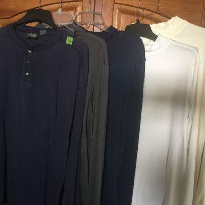 M 6: Asst LS shirts (3Tek Gear,TH,Indigo) lg and xlg
