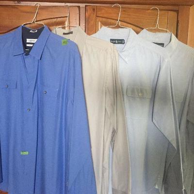 M 12: xlg Calvin Klein & Ralph Lauren LS Dress shirts XL (4)