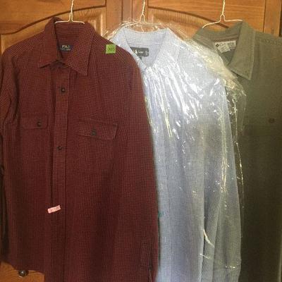 M 17: Ralph Lauren 100% linen ls Shirt lot l and xl