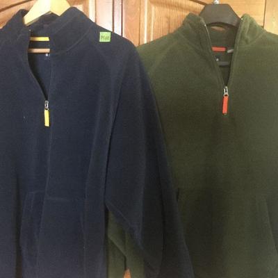 M 22: Gap 3/4 zip fleece (2) xlg
