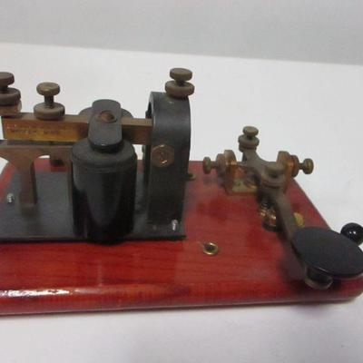 Lot 10 - E. F. Johnson Co. Key On Base Telegraph Practice Set