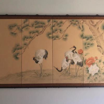 M1: Beautiful Handpainted Sectioned Wall Hanging