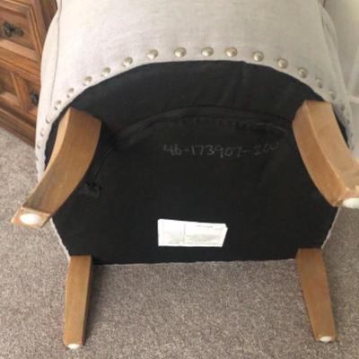 M2: Light Blueish-Grey Arm Chair
