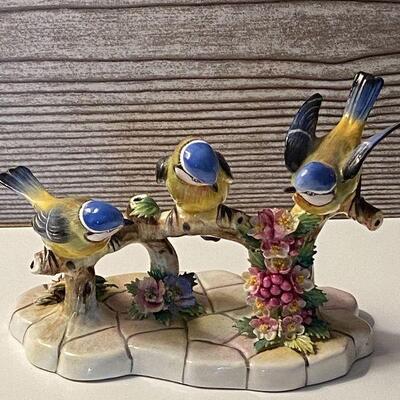 RB13: Small Royal Adderley Treble Blue Tit Bird Figurine