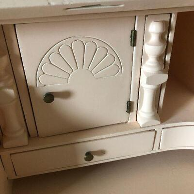 H1: Pale Peach Painted Vintage Secretary