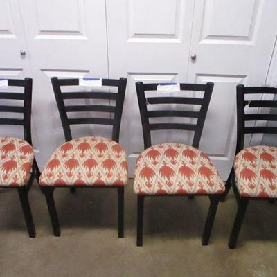 Lot 18 - Metal Dining Room Chairs - Southwestern Pattern