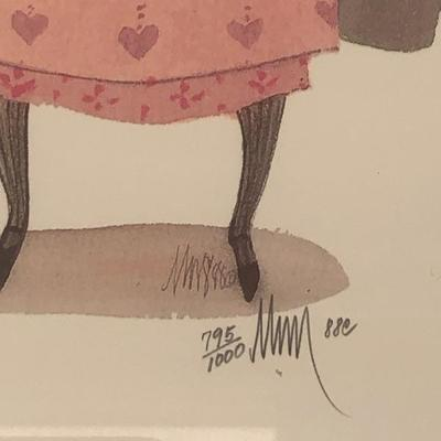 "Amish Girl Art P. Buckley Moss ""SALLY"