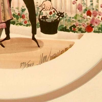 Vintage 1985 P Buckley Moss -  PICKETT FENCE - limited ed., signed, framed, 15