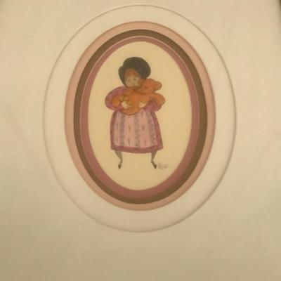ORIGINAL ART, watercolor painting, FRAMED, artist P. Buckley Moss -