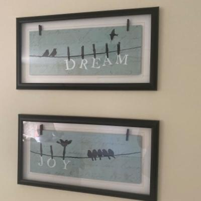111: Pair of Decorative Wall Art