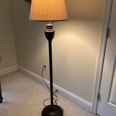 126: Pottery Barn Brown Floor Lamp with Shade