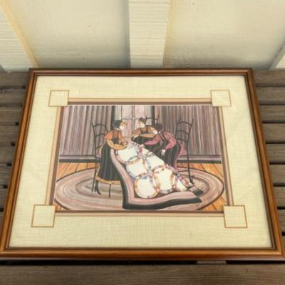 1984 limited edition - last one 100 quilters and a black cat/1000 framed, 12
