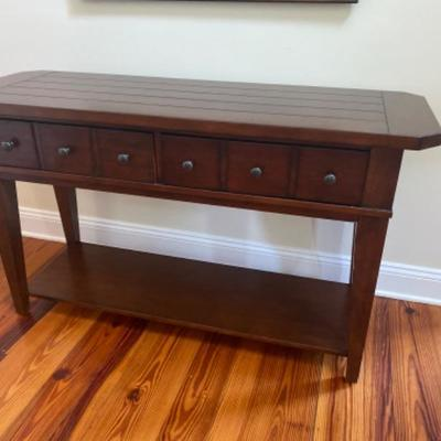 146: Hooker Two Drawer  Console Table
