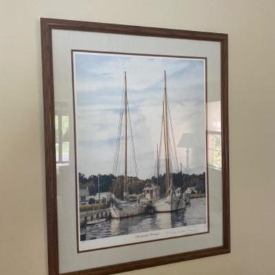 157: Chesapeake Heritage Signed and Numbered Lithograph George F. McWilliams