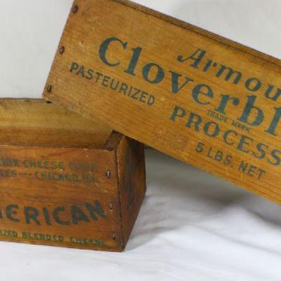 LOT#T6: Armour's Cloverbloom & Kraft American Cheese Box Lot