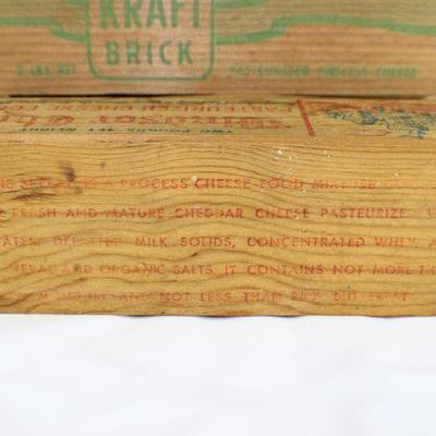 LOT#T10: Mel-O-Bit Pimento, Windsor Club, & Kraft Brick Cheese Box Lot