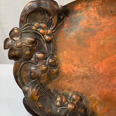 LOT#V11: Art Nouveau Period Copper Tray
