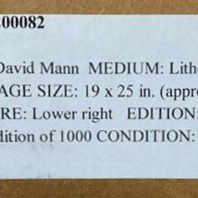 LOT#A13: NOS David Mann Pencil Signed Lithograph