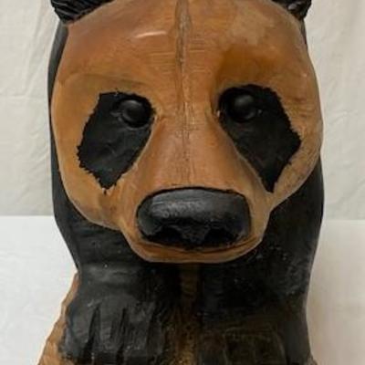 LOT#G18: J.H. Sears Hand Carved Panda