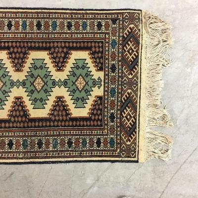 "Vintage Handmade Persian Rug 27"" x 64"""
