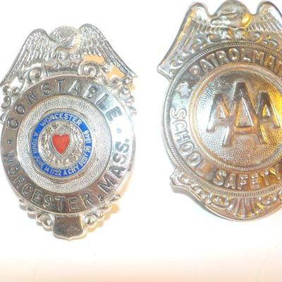 3 Real Law Enforcement Badges for the Collector.
