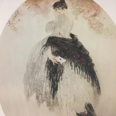 Louis Icart Fashion Art Vintage Lithograph