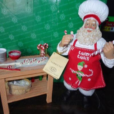 KSA Fabriche Collection - Santa Baking Cookies & Candy Canes