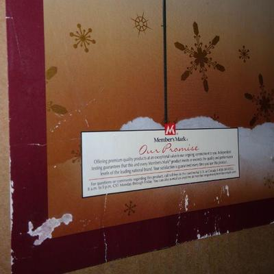 NO SHIPPING - LOCAL PICK UP ONLY ON THESE WREATHS Vintage Makers Mark Holiday Outdoor Wreath Lighting - Front Yard Display