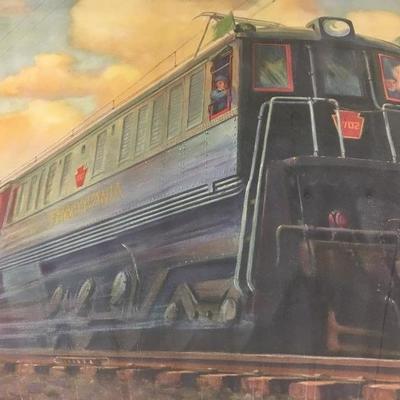 c.1933 Grif Teller Lithograph of Pennsylvania Railroad
