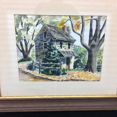 c.1969 Barbara Cantera Original Watercolor