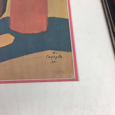 """Vintage MATIROS SARYAN """"Lemonade Vendor"""" Russian Art"""