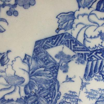 Lot 7 - Vintage Blue & White Chinoiserie  Porcelain Plate Panel Screen and Blossom 9