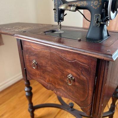Franklin (Sears) Sewing Machine in Desk Case