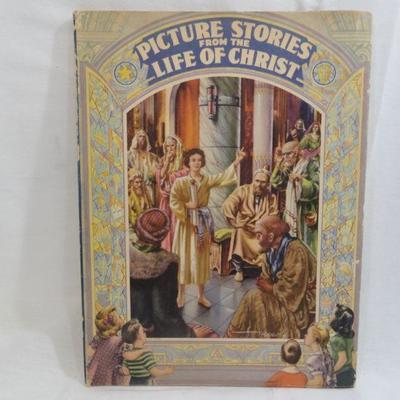 Lot 295 Picture Stories from the Life of Christ Vintage Book